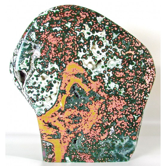 Large Orbicular Jasper polished Freeform Display Piece