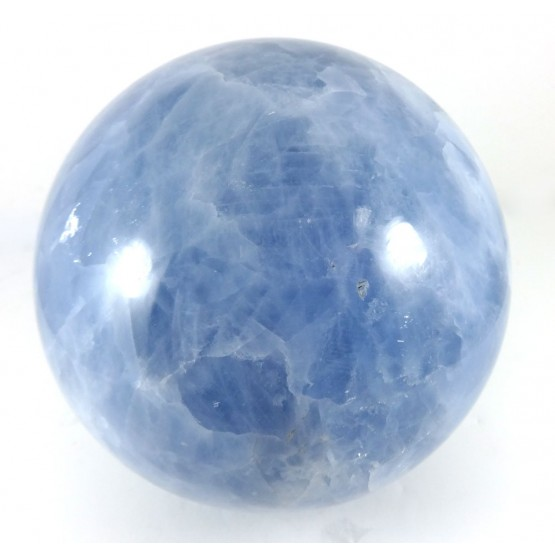 Blue Calcite Crystal Sphere