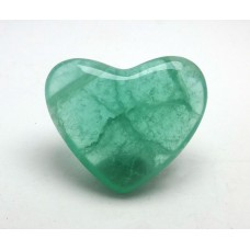 Bright Green Fluorite Polished Heart