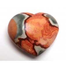Polychrome Jasper Patterned Heart