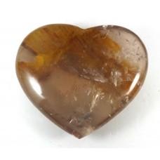 Iron Quartz Patterned polished Heart
