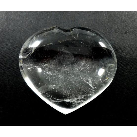 Clear Quartz Polished Heart