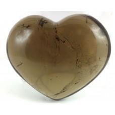 Smokey Clear Quartz Polished Heart