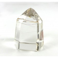 Clear Rutile Quartz Crystal Polished Point
