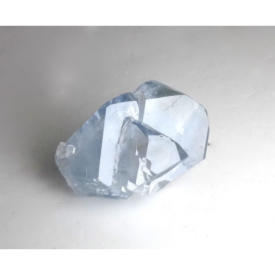 Clear Celestite Crystal Triple Point