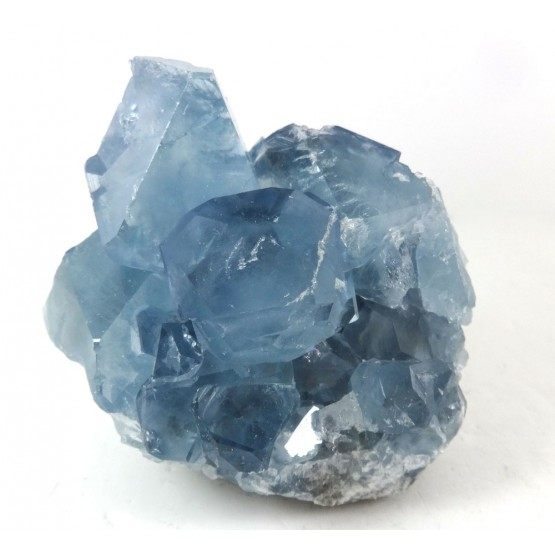 Celestite Cluster with Translucent Crystals
